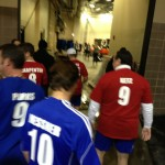 Warriors walking to the match