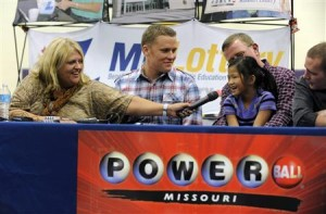 Six-year old Jaiden is asked about winning the lottery in Dearborn, Missouri
